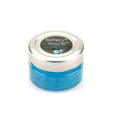 Sphery + - Perles de liqueur de curaçao bleu