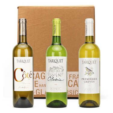 Coffret 3 vins blancs Tariquet