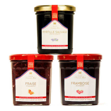 Maison Francis Miot - Trio de confitures de fruits rouges Francis Miot