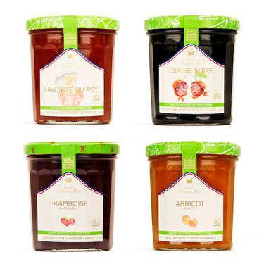 Assortiment de confitures allégées en sucre Francis Miot
