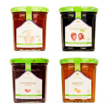 Assortment of reduced sugar jams Francis Miot