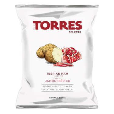 Chips gourmet au jambon ibérique Patatas Torres