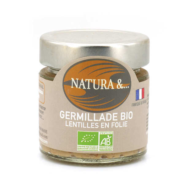"Organic ""Germillade"" To Spread - Lentils, Sunfliower, Sprouted Rice"