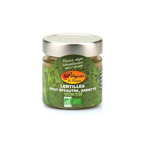Pellegrain en Provence - Toastinette lentilles, petit épeautre, sarriette bio à tartiner