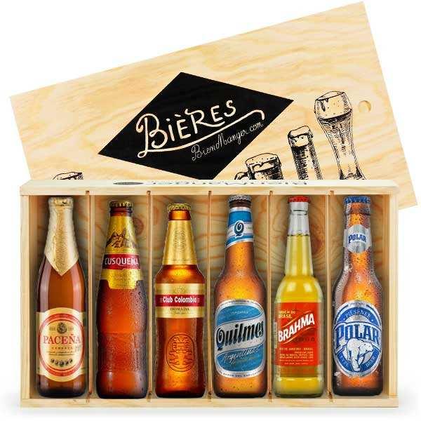 Caisse de 6 bières d'Amérique du Sud