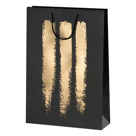 - Cartboard bag for 3 Bottles - Golden Decoration