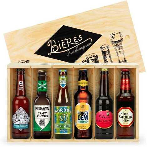 BienManger paniers garnis - Caisse cadeau 6 bières du Royaume-Uni