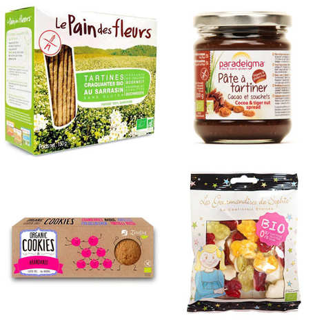 - Free gluten and bio gourmand break