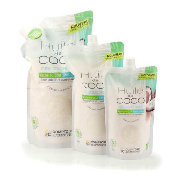 Huile de coco désodorisée bio - doypack