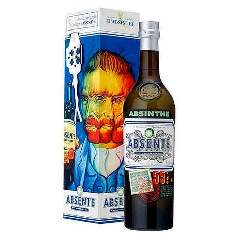 Distilleries et Domaines de Provence - Absente 55° et sa cuillère - Spiritueux aux plantes d'absinthe 55%