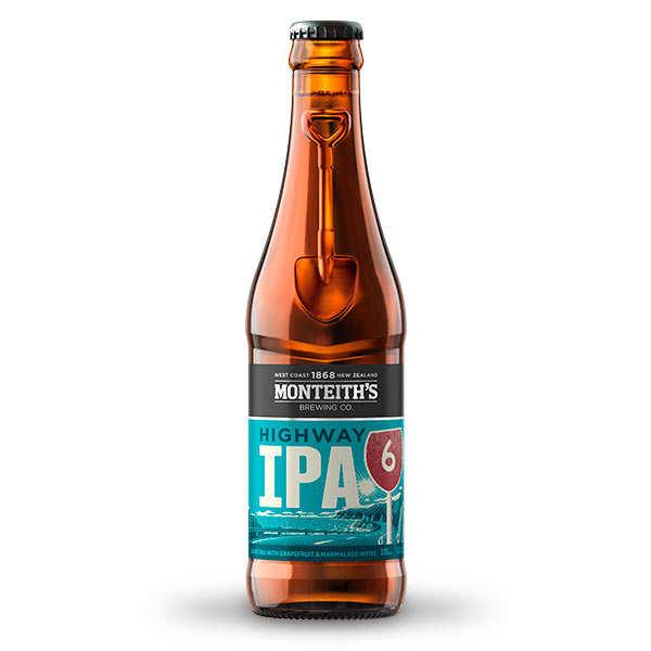 Monteith's Highway ipa, bière de Nouvelle-Zélande 5.4%