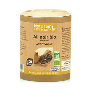 Nat&Form - Organic Black Garlic - 200 Capsules of 445mg
