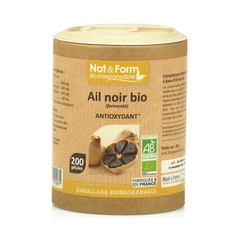 Nat&Form - Organic Black Garlic - 200 Capsules of 445mg