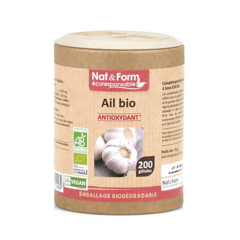 Nat&Form - Ail bio - 200 gélules de 375mg