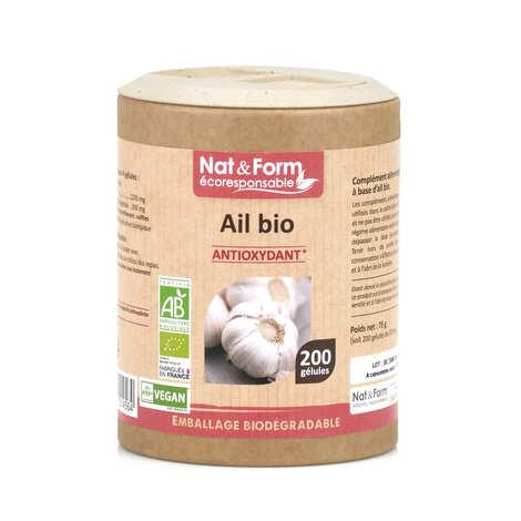 Nat&Form - Organic Garlic - 200 Capsules of 375mg