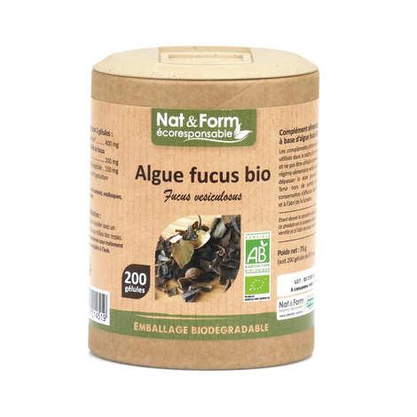 Nat&Form - Algue fucus bio - 200 gélules de 375mg