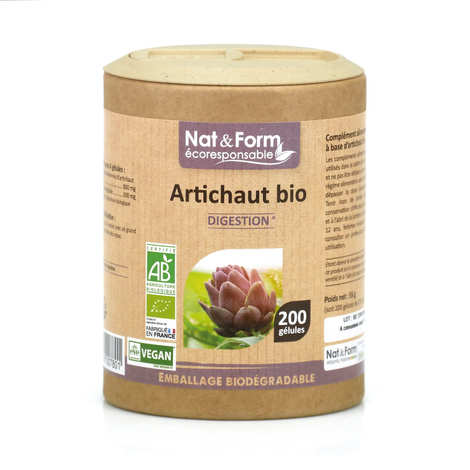 Nat&Form - Organic Artichoke - 200 Capsules of 275mg