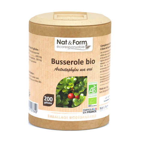 Nat&Form - Organic Busserole - 200 Capsules of 325mg