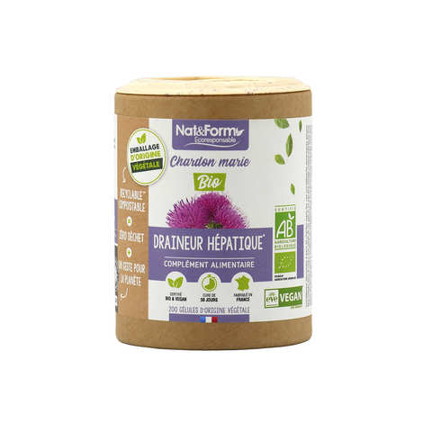 Nat&Form - Organic Milk Thisle - 200 Capsules of 325mg