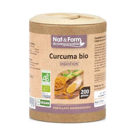 Nat&Form - Organic Turmeric - 200 Capsules of 375mg