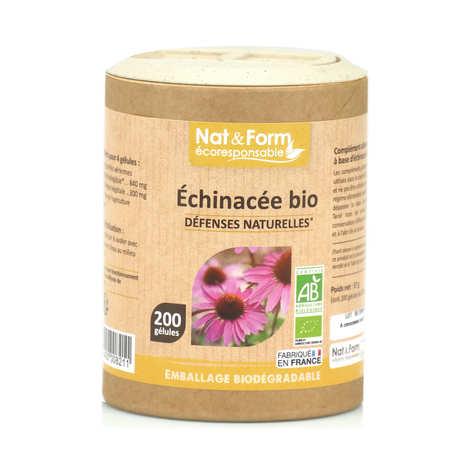 Nat&Form - Organic Echinacea - 200 Capsules of 285mg
