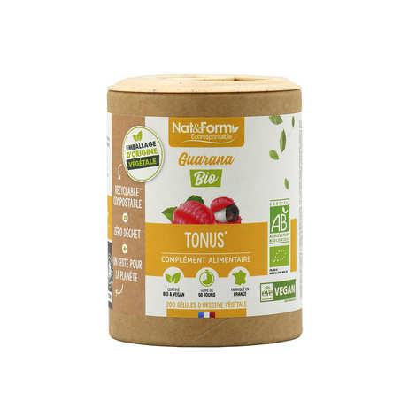 Nat&Form - Organic Guarana - 200 Capsules of 350mg