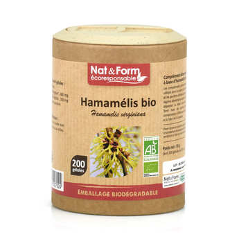 Nat&Form - Organic Hamamelis - 200 Capsules of 295mg