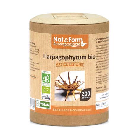 Nat&Form - Harpagophytum bio - 200 gélules de 355mg