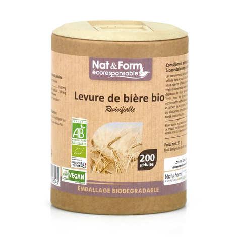 Nat&Form - Levure de bière revivifiable bio - 200 gélules de 455mg
