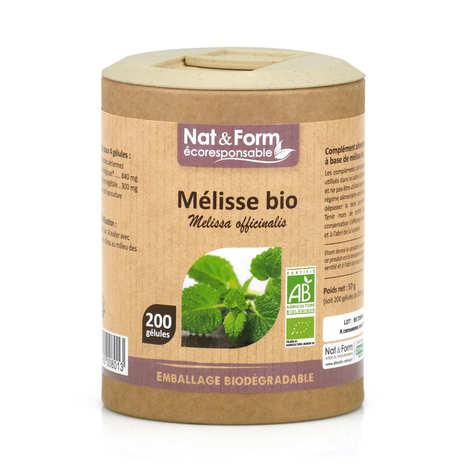 Nat&Form - Mélisse bio - 200 gélules de 285mg
