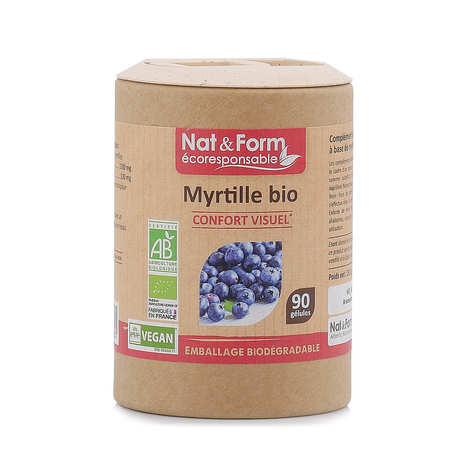 Nat&Form - Organic Blueberry - 90 Capsules of 325mg