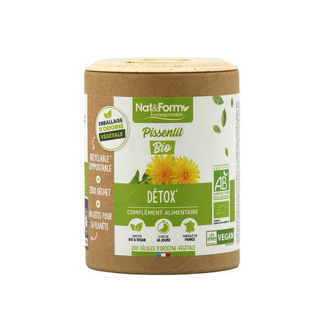 Nat&Form - Organic Dandelion - 200 Capsules of 325mg