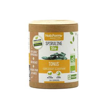 Nat&Form - Spiruline bio - 200 comprimés de 500mg