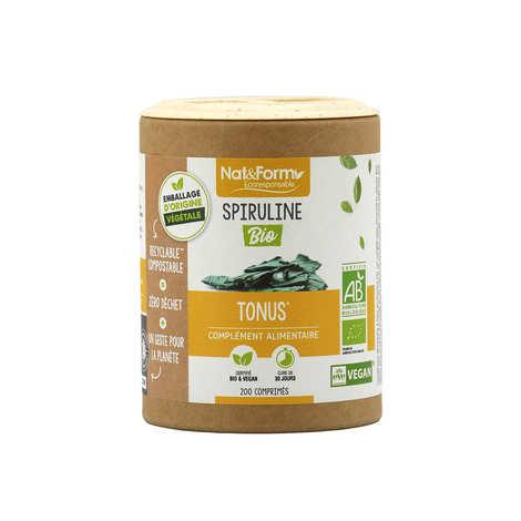 Nat&Form - Organic Spiruline - 200 pills of 500mg