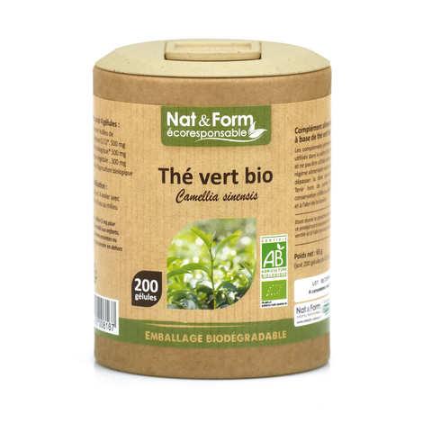 Nat&Form - Organic Green Tea - 200 Capsules of 325mg