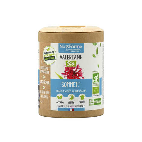 Nat&Form - Organic Valerian - 200 Capsules of 325mg