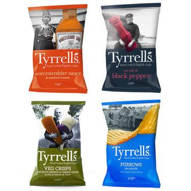 Assortiment découverte des chips Tyrrells