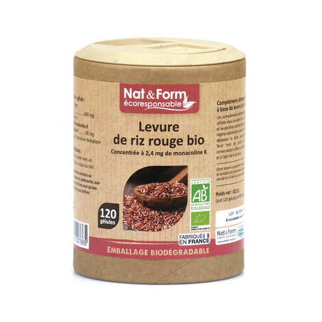 Nat&Form - Organic Red Rice Yeast - 200 Capsules of 690mg
