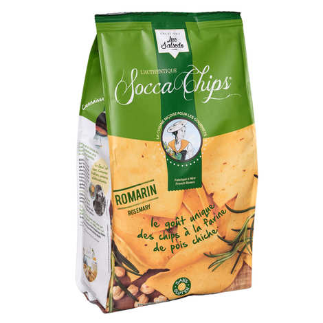 Socca Chips® - Socca Chips® - Chips de pois chiche au romarin