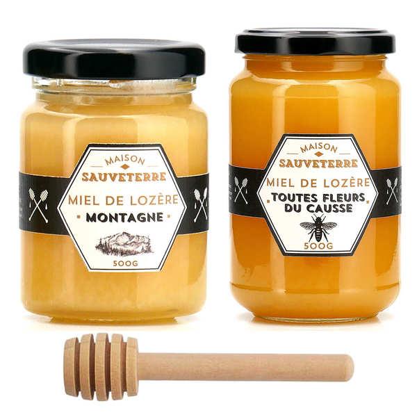 Duo de miels Maison Sauveterre et la cuillère à miel offerte