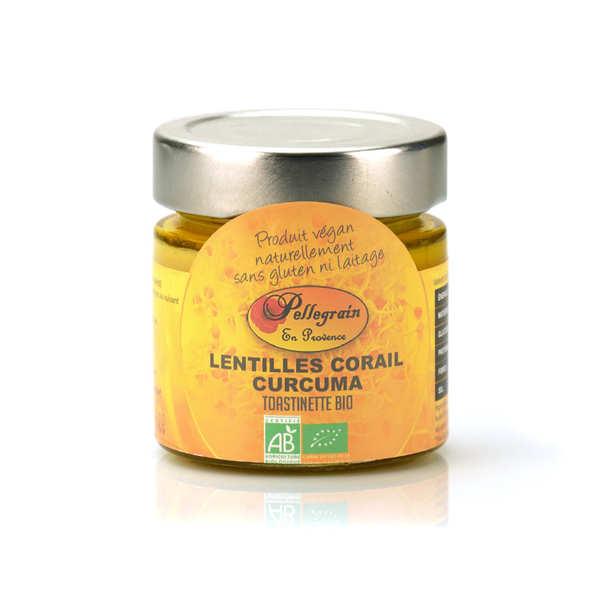 Toastinette lentilles corail au curcuma bio à tartiner