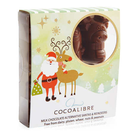 CocoaLibre - Christmas reindeer ans Santas with milk chocolate - Gluten and Lactose Free