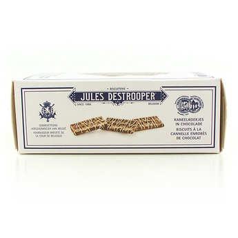 Biscuiterie Jules Destrooper - Biscuits à la cannelle enrobés de chocolat