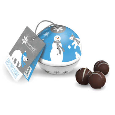Montezuma's Bauble Tin with Dark Chocolate & Vanilla Truffles