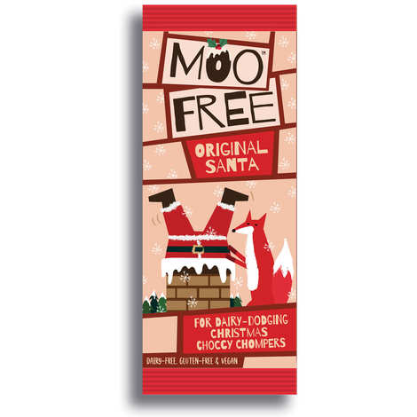 Moo Free - Père noël au chocolat bio sans lactose et sans gluten