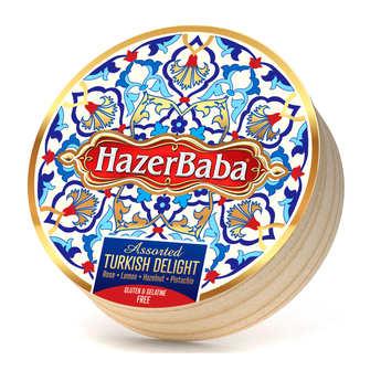 Hazer Baba loukoums - Turkish Delight with Rose, Lemon, Pistachio and Hazelnut gluten and gelatin free