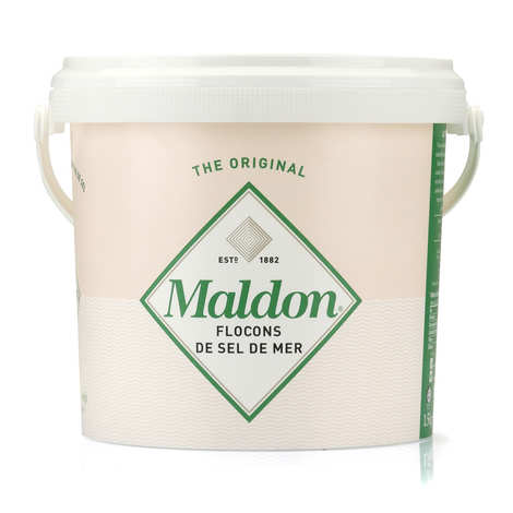 Maldon Crystal Salt - Maldon Sea Salt Flakes Bucket