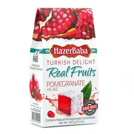 Hazer Baba loukoums - Turkish Delight with Pomegranate - Gluten free and non gelatine