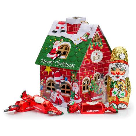 """Confiserie Heidel - Maisonnette """"Nostalgie de Noël"""" remplie de chocolats"""