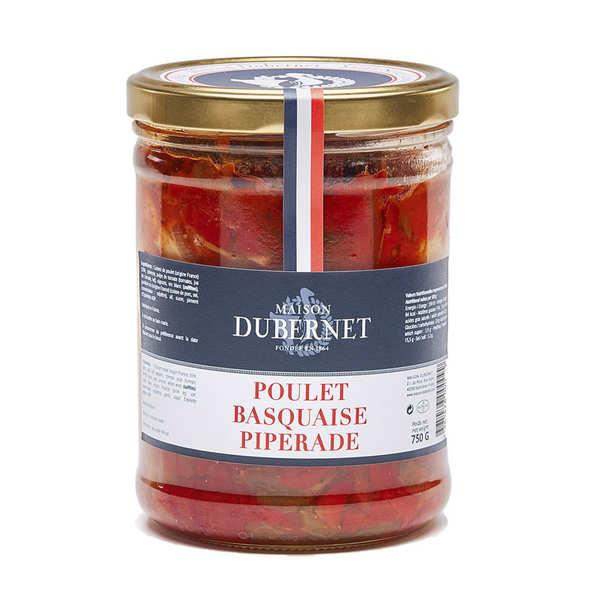 Poulet basquaise piperade - Maison Dubernet